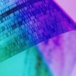 DNA gel close-up